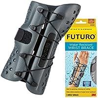Nexcare Futuro UU008565481-Muñequera Sport, Resistente Al Agua Man, Izquerda, S/M, Unisex Adulto, Multicolor, S/M