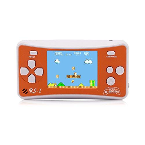 Consola de videojuegos portátil, e-Mod, 8 bits, estilo, LCD de 2,5 pulgadas, 152 videojuegos, naranja