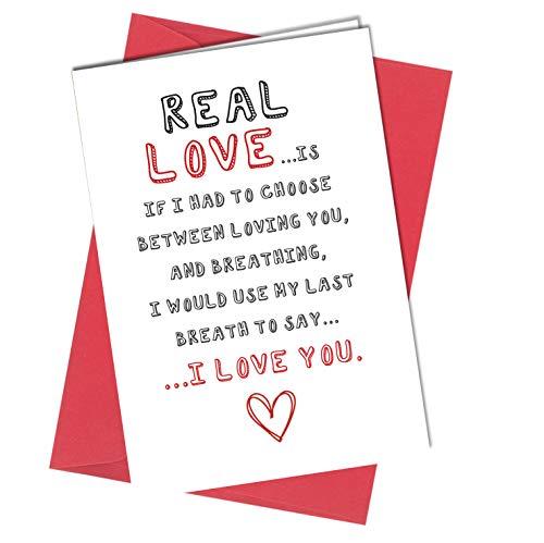 # 913 - biglietto di auguri di san valentino, per lui o per lei vero amore, divertente