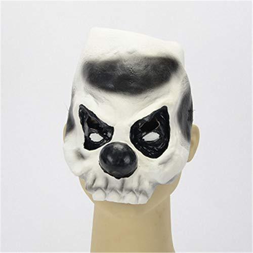 Kostüm Narr Billig - MASKUOY Halloween-Maske Halloween Karneval Black Nose Clown Halbes Gesicht Latex Maske Für Film Kostüm Narren Tag Maskerade Party Horror Gruselig Elastisch