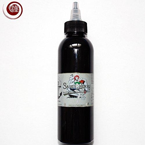 Sailor Jerry Tattoofarbe, Liner Black (Linien Schwarz), 150 ml. Made in GERMANY! Mit Zertifikat! Tätowierfarbe, Tattoo Ink, Vertrieb durch HAN-SEN Trading & Consulting GmbH!