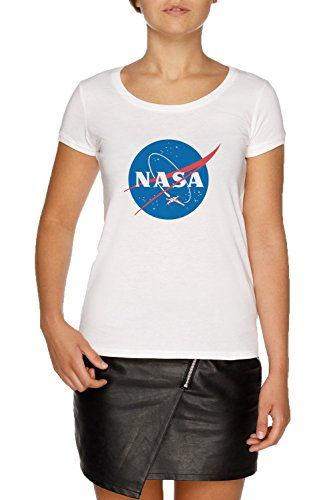 Jergley NASA X Wing Fighter Camiseta Blanco Mujer Tamaño S | Women's White T-Shirt Size S