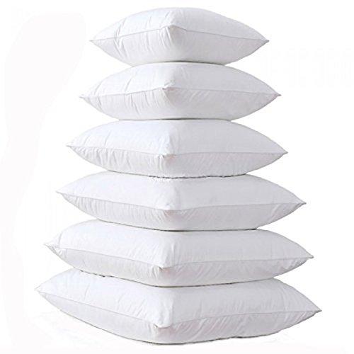Textilhome - 2 Coussins de Garnissage en fibre creure - 100% Polyester - Blanc - Dimension 30x50, 50x50, 45x45, 50x70, 60x60 cm.