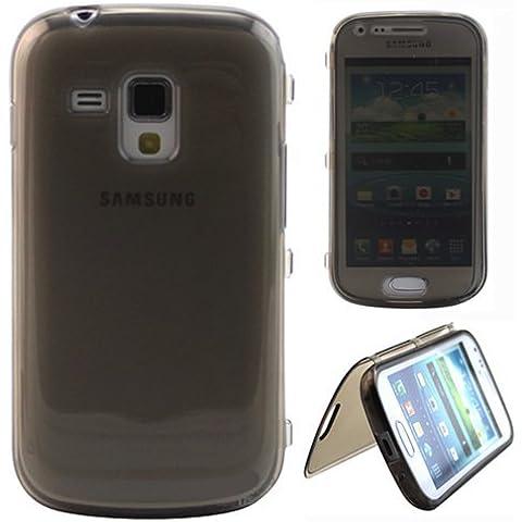 Semoss Funda de Flip Cuero TPU Silicona Carcasa Case Cover para Samsung Galaxy Trend GT-S7560 / Galaxy S Duos S7562