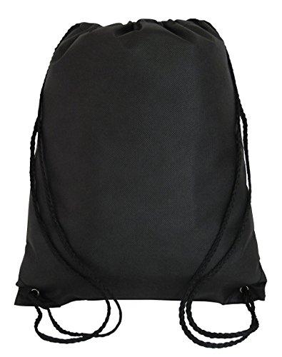 Kordelzug Cinch Tasche (Kordelzug Rucksack Cinch Tagesrucksack leicht Gym Sack Training, Sport, Reisen schwarz)