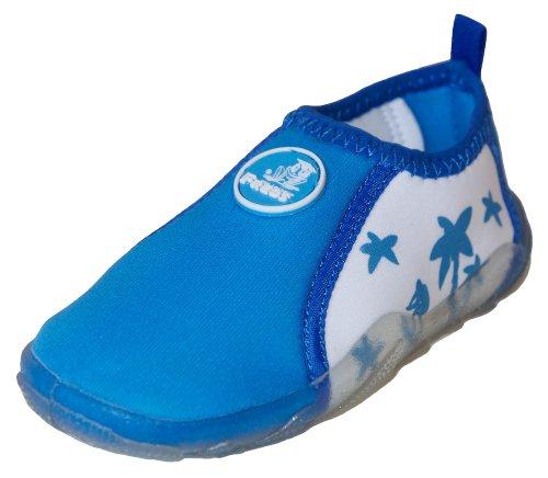 FREDS SWIM ACADEMY Kinder Aqua Schuhe Badeschuhe Wasserschuhe Strandschuhe 24 blau