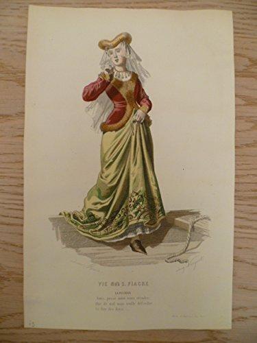 olorierter Stahlstich von Adrien Marie nach Adrien Nargeot. Paris, um 1875. Ca. 24 x 16 cm. (Paris-kostüm)