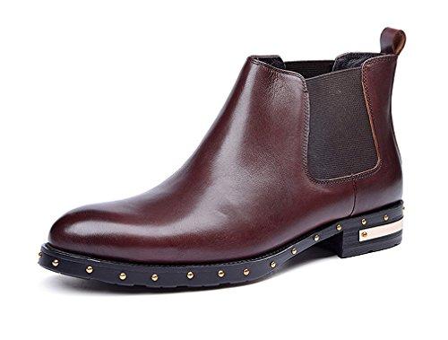 Dilize , Herren Schnürhalbschuhe, braun - rotbraun - Größe: 42 (Cowboy-wingtip Schuhe)