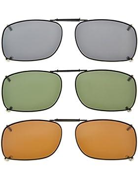 Eyekepper Marco de metal borde polarizado lente clip en gafas de sol 51x36MM
