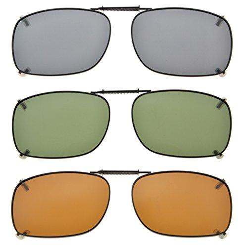 Eyekepper Grau/Braun / G15 Objektiv 3-pack Clip-on Polarisierte Sonnenbrille 51x36MM Grau Linse