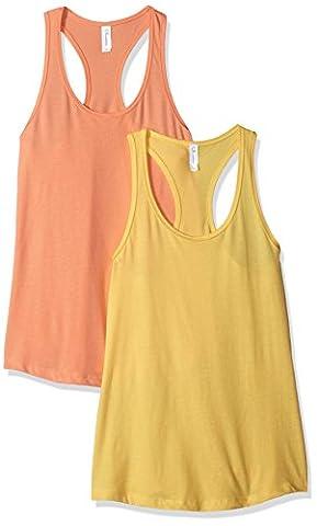 Clementine femmes de Petite Plus Idéal dos nageur pour femme (Lot de 2) XL Banana Yellow/Light Orange
