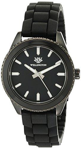 Wellington Karamea WN508-622 - Reloj analógico de cuarzo para mujer, correa de silicona color negro