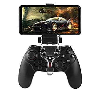 Diswoe PS3 Android Wireless Controller,Bluetooth Gamepad Controller Joystick with Adjustable Bracket Holder for Android Smartphone PS3 Windows PC (Black)