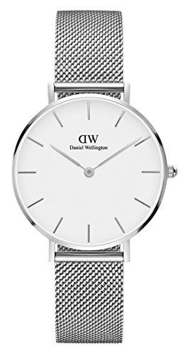 Generico Armbanduhr Daniel Wellington dw00100164Damen, Uhren mit Zifferblatt Oval Weiß und Armband Stahl.