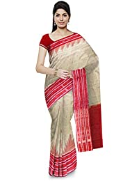 Odisha Handloom Gopalpuri Cotton Saree (Beige)
