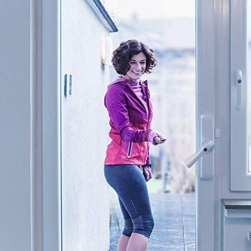 ABUS 84115 Funk-Fensterantrieb HomeTec Pro FSA3550 automatisches Schloss für Terrassentür-Fernbedienung oder Code-mit Alarm-braun-84115