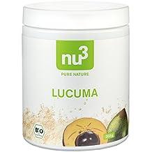 """nu3 Premium Bio Lucuma, Pulver, 200g - Das fruchtig-süße """"Gold der Inka"""" aus den Anden"""