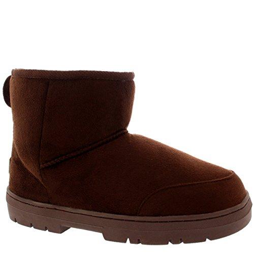 Damen Schuhe Classic Mini Fell Schnee Regen Stiefel Winter Fur Boots Dunkelbraun