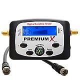 PremiumX PXF-21 Digital Sat Finder LCD Display Tonsignal Kompass Satelliten Satellitenfinder Satfinder Dishpointer FullHD HDTV 4K