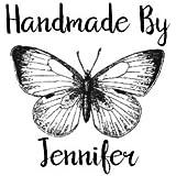 Personalizado hecho a mano por sello–Vintage de mariposas