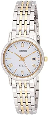 Citizen Women White Dial Stainless Steel Band Watch - Ew1584-59A