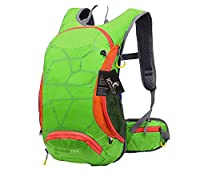 REPHYLLIS Outdoor Professional Cycling Backpack 15L Nylon Ultra-light Waterproof Bicycle Rucksack Riding Climbing Bag with Helmet Storage for Biking Hiking Camping Travelling Outdoor Sports Green