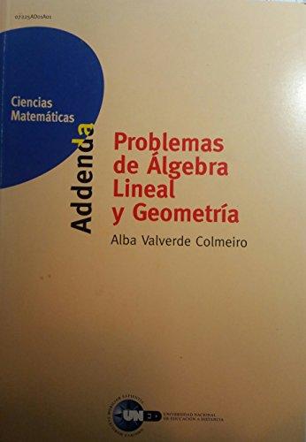 Problemas algebra lineal y geometria