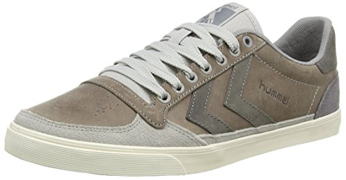 hummel SLIMMER STADIL OILED LO, Unisex-Erwachsene Sneakers, Grau (Dove 1018), 45 EU
