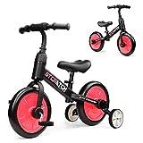 Fascol 3 in 1 Triciclo per Bambini Bicicletta Senza Pedali Triciclo Adatto per età 2-6 Anni, Rosa