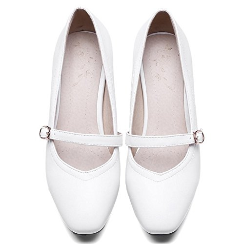 Coolcept Femmes Mary Jane Escarpins white