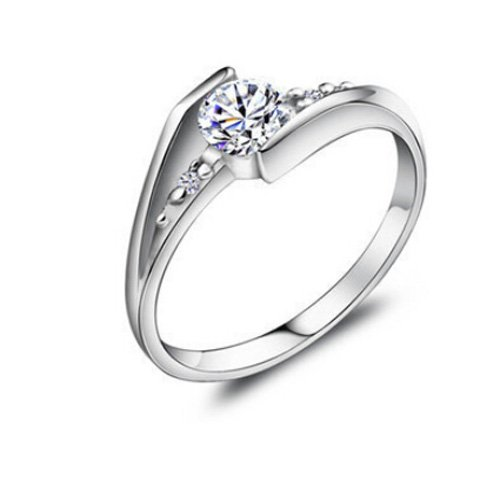 925 Sterling Silber Zirkonia Damen-Ring Verlobungsring design schmuck größe 54(17.2)