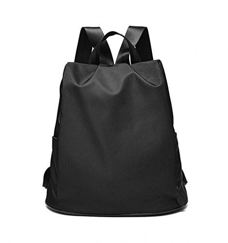 MSXUAN Neu Mode Nylon Rucksack Freizeit Oxford Tuch Schultertasche Damen L003DE-Schwarz