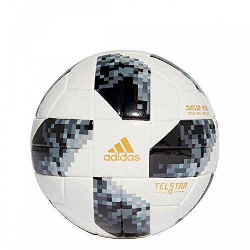 adidas FIFA Fußball-Weltmeisterschaft Junior Ball, White/Black/Silvmt, 5