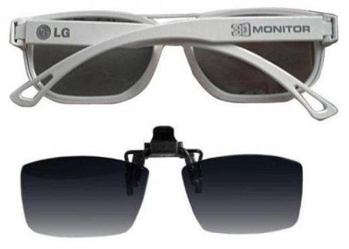 LG 3D Brille FPG-200F (Pack weiß-Gerahmte Passiver Glas und clip auf Glas) für D2242P - PN (Lg 3d-brille)