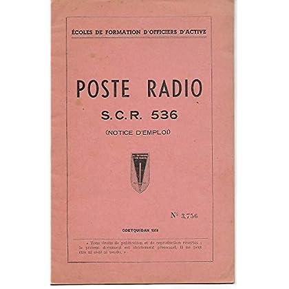 POSTE RADIO S.C.R. 536 NOTICE D EMPLOI