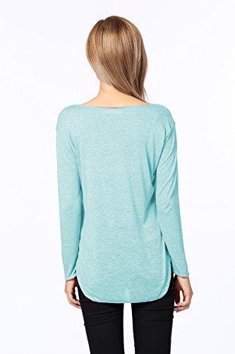 Jc.kube T-Shirt à Manches Longues Femme Vert