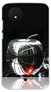 Crazy Beta METAL APPLE DESIGNPrinted Back Cover For Micromax Canvas A1