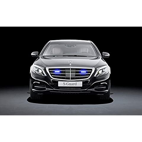 Classica e pubblicità muscoli e per auto Mercedes-Benz-600 S Guard (2015)-Art-Stampa su carta satinata, mil-10 Archival finestra frontale, colore: nero, Carta, Black Front Studio View, 50,8 x 40,6