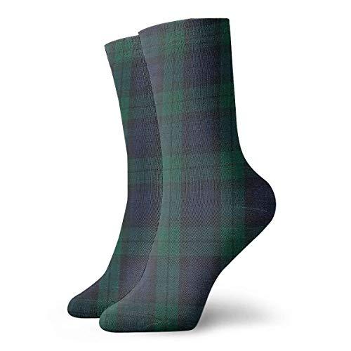 Ankle Short Sports Socken Black Watch Plaid Printing Unisex Non Slip Casual Dress Boat Stocking for Men Women Running - Black Watch Plaid Wolle