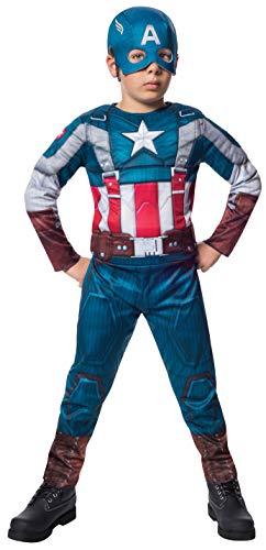 America Jungen Captain Retro Kostüm - Marvel Deluxe Captain America Retro Winter Soldier Costume Child Large