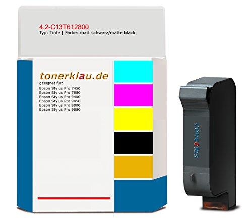 kompatibel Tinte 4.2-C13T612800 für: Epson Stylus Pro 9880 als Ersatz für Epson C13T612800 / T567800 -