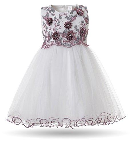 (CIELARKO Baby Mädchen Kleid Prinzessin Kleinkind Blume Taufkleid Festzug Hochzeits Kleidung 3-24 Monate)