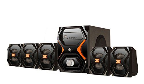 Flow Strom 5.1 Multimedia Home Theatre Speaker System Exclusive Looks- Bluetooth Enabled (Multicolour)