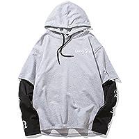 Hoodies Hoodie Jacket Winter, STAR PRINTING falso macho XL Sweater,Gray,M.