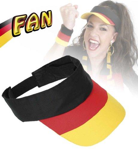 Sonnenblende FAN, Sonnenschutz, Kopfbedeckung, Deutschland, Fußball, WM, EM (Olympischen Spiele Themen Kostüm Party)