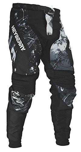 HEYBERRY Motocross Enduro Quad Hose schwarz weiß Gr. L