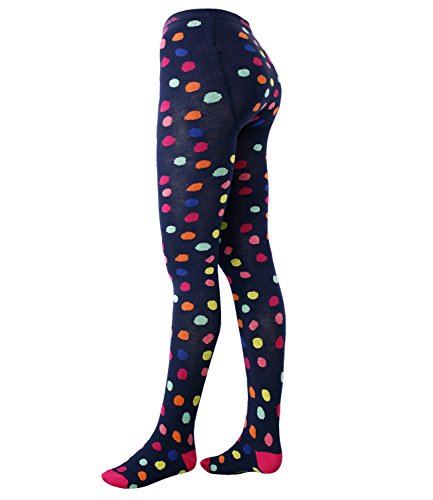 Ewers Babystrumpfhose Mädchenstrumpfhose Strumpfhose Markenstrumpfhose gepunktet für Babys (EW-901003-S17-BM0-1121-110/116) in Tinte, Größe 110/116 inkl. (Günstige Outfit Schule Mädchen)