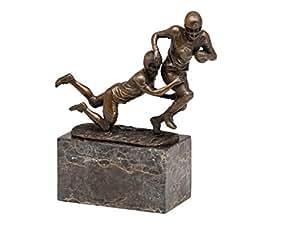 Stauette de joueurs de football américain/SuperBowl - bronze - style trophée -