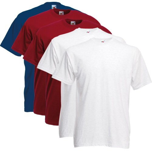 Fruit of the Loom T-Shirts 5er Pack - Original T - Full Cut - - color set8