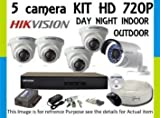Hikvision TURBO 8 Channel DVR & (3+2) CCTV Camera Kit at amazon